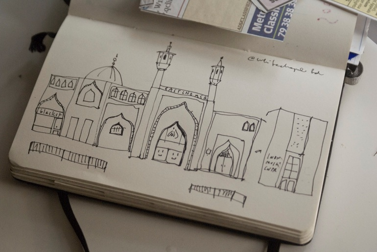 east london mosque moleskine london drawings merchesico