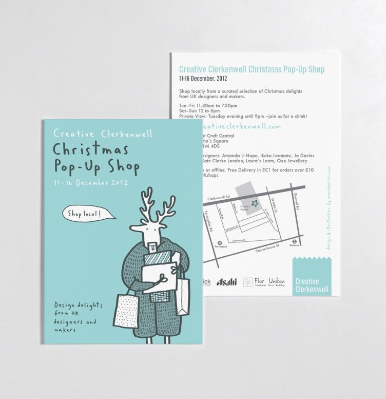 creative clerkenwell postcard poster reindeer merchesico