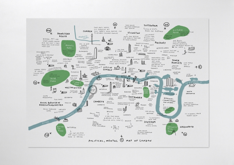 london mental map 2012 mercedes leon handwriting digital illustration merchesico