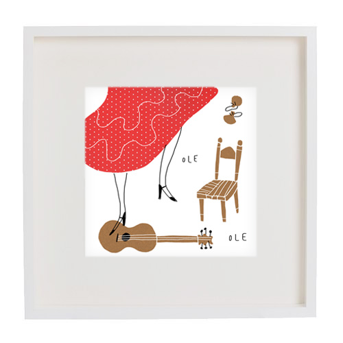 at your feet prints mercedes leon merchesico flamenco illustration