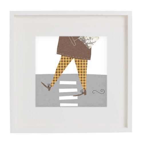 man about town print framed mercedes leon illustration