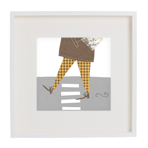 man about town print framed mercedes leon illustration