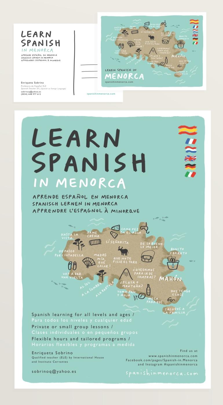 spanish in menorca brand design illustration mercedes leon