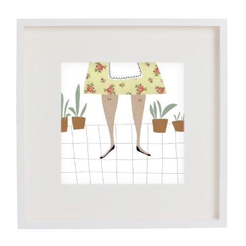woman at home print mercedes leon illustration