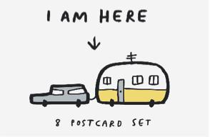 smiles toast m&s postcard box i am here
