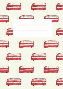 london bus notebook merchesico mercedes leon illustration vintage