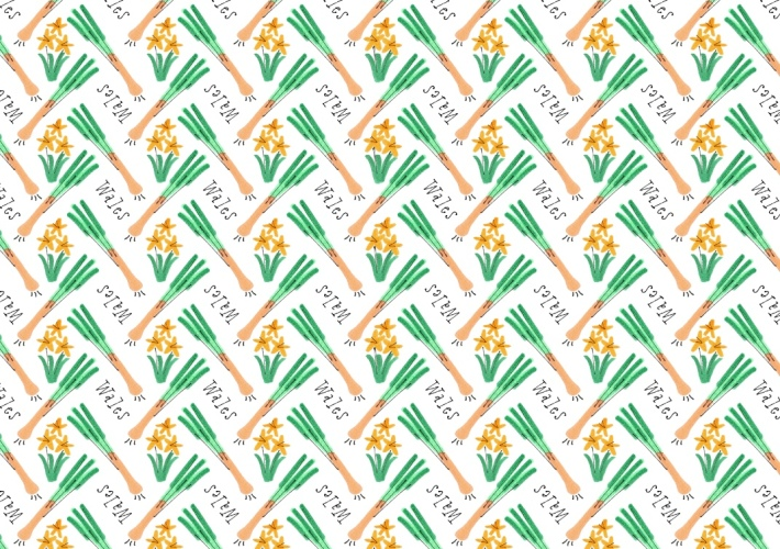 wales leek wallpaper mercedes leon illustration vintage markers