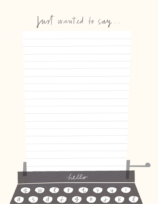 social stationery typewriter writing paper m&s mercedes leon merchesico illustration