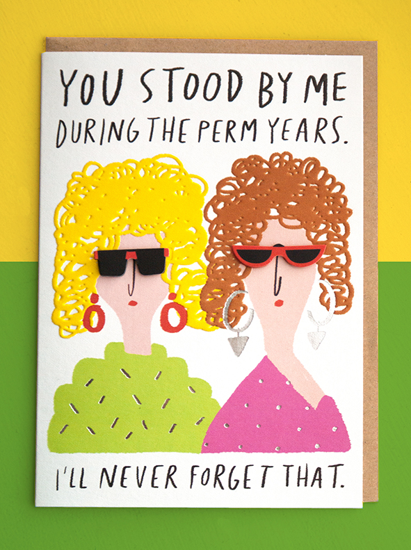 perm years greeting card m&S