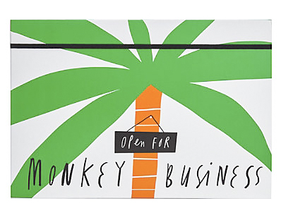smiles stationery m&s monkey business mercedes leon ilustracion