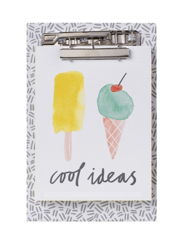 m&s tutti fruity clipboard note ice cream mercedes leon illustration