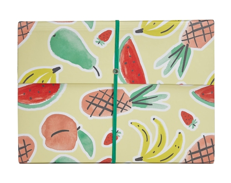 M&S tutti fruity folder fruit pattern mercedes leon merchesico design stationery