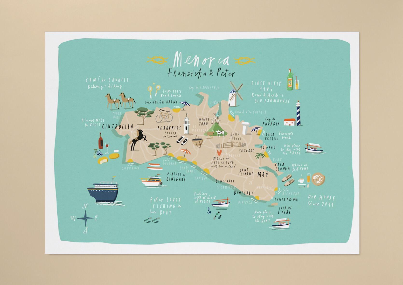 Menorca Map