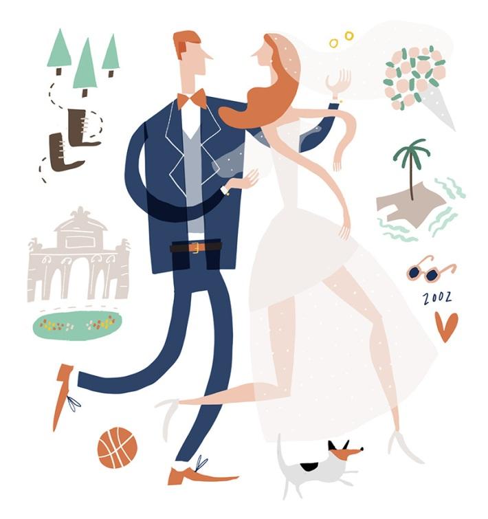 wedding-portrait-custom-stationery-carlos-patricia-mercedes-leon-illustration