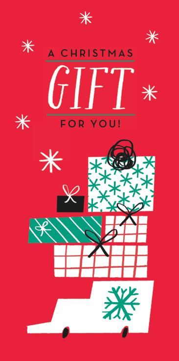 special gift christmas van presents m&s wallet card mercedes leon illustrator