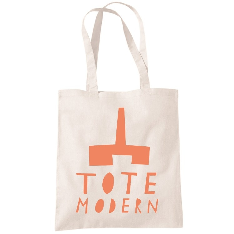 TOTE modern artist bag merchesico etsy shop ORANGE front