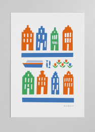 amsterdam 3 colour print merchesico illustration stencil