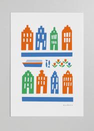 amsterdam 3 colour print merchesico illustration stencil
