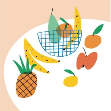 blanks fruit bowl still life m&s mercedes leon illustration design