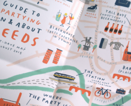 andy vicky custom wedding invites party leeds map icons illustration mercedes leon