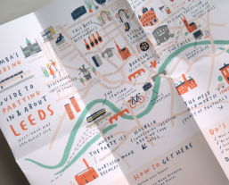 andy vicky wedding invites party leeds map illustration mercedes leon