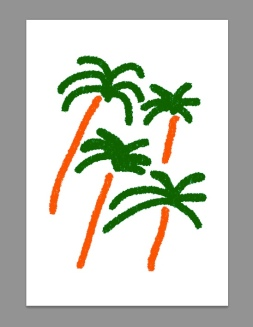 bcn spain iphone sketches palm trees print merchesico illustration
