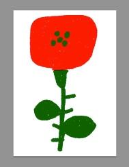 red rose barcelona st jordi postcard merchesico sketches