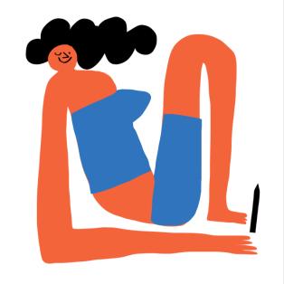 women who draw merchesico wink red body bold square art illustration