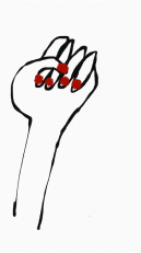 womens rights hand red nails merchesico mercedes leon illustration