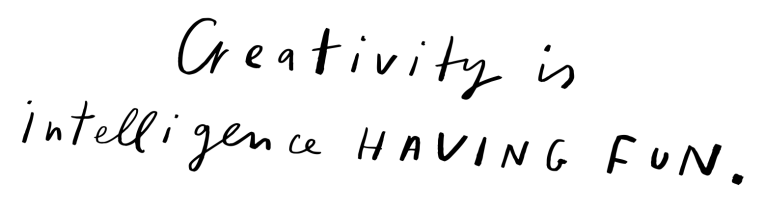 creativity intelligence fun quote lettering hallmark designer mercedes leon