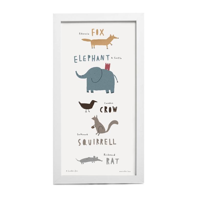 London Zoo Print_mock up frame 20x40 8 x16 in_merchesico