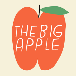 the big apple nyc postcard mercedes leon merchesico illustration