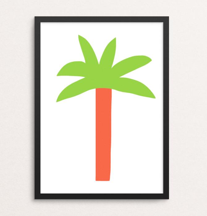 prints paradise palm tree framed merchesico mercedes leon illustration
