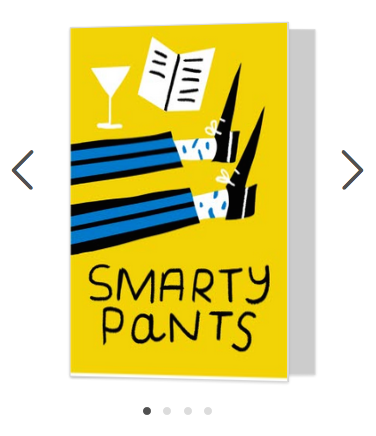 smarty pants fun card moonpig merchesico illustration