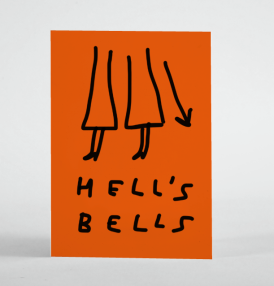 antisocial greetings humour merchesico illustration hells bells