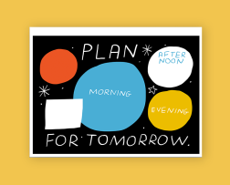 paperchase productivity mercedes leon illustration desk pad plan tomorrow