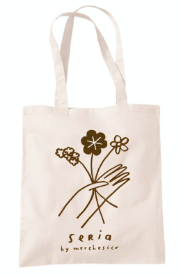 seria japan shop mercedes leon illustration eco bag tote hand flowers line drawing
